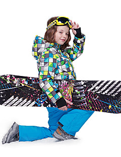 Phibee 男の子 スキージャケット ウォーム 防風 防雨 耐久性 静電気防止 通気性 ハイキング マルチスポーツ ウィンタースポーツ クロスカントリー スノースポーツ ポリエステル