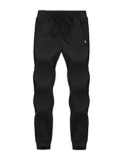 billige Herrebukser og -shorts-Herre Store størrelser Fritid Skinny Chinos Bukser, Mellomhøyt liv Bomull Rayon Ensfarget