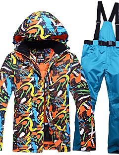 Herre Skijakke og bukser Varm Vanntett Vindtett Pusteevne Lettvekt Ski Ski/Snowboarding Bomull