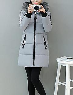 Damen Gefüttert Mantel,Standard Street Schick Ausgehen Solide-Andere Polypropylen Langarm
