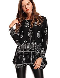 tanie Swetry damskie-Damskie Vintage Długi Pulower - Nadruk Długi rękaw