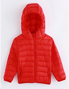 tanie Odzież dla chłopców-Odzież puchowa / pikowana Bawełna Dla chłopców Jendolity kolor Długi rękaw Czerwony