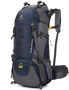 billiga Ryggsäckar och väskor-60L Ryggsäckar till dagsturer / Ryggsäckar - Regnsäker, Mateial som andas Camping, Klättring, Trail Nylon, oxford Orange, Rubinrött,