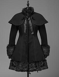 Geacă Steampunk® Cosplay Rochii Lolita Negru Culoare solidă Manșon Lung Geacă Pentru Lână De Lână