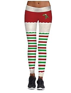 billige julen Kostymer-Juletrær Bukser Dame Jul Festival / høytid Halloween-kostymer Hvit Beige Brun Rød Mørkegrønn Mønster