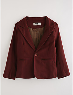 Boys' Solid Suit & Blazer,Cotton Long Sleeves Wine