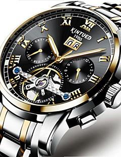 בגדי ריקוד גברים קופסאות לשעון פותחי שעונים שעונים יום יומיים שעוני אופנה שעוני שמלה שעוני שלד שעון יד שעון מכני Chinese אוטומטי נמתח לבד
