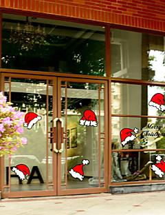 プリント クリスマス ウインドウステッカー 材料 窓の飾り