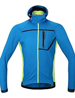 Jaqueta para Ciclismo Homens Moto Inverno Jaquetas em Velocino / Lã Roupa de Ciclismo A Prova de Vento Redutor de Suor Respirabilidade