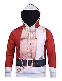 billige julen Kostymer-Snømann julenissen Hattetrøje Unisex Jul Festival / høytid Halloween-kostymer Rød Stripet Jul
