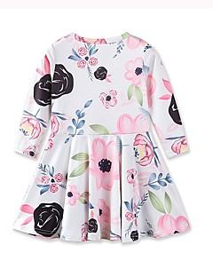 tanie Odzież dla dziewczynek-Sukienka Bawełna Akryl Dziewczyny Codzienny Wyjściowe Kwiaty Jesień Wiosna, jesień, zima, lato Długi rękaw Urocza Na co dzień Księżniczka