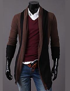 Χαμηλού Κόστους Men's Fashion Cardigans-Ανδρικά Ενεργό Μακρυμάνικο Ζακέτα - Συνδυασμός Χρωμάτων