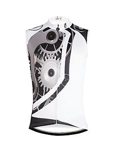 billige Sykkelklær-ILPALADINO Herre Ermeløs Sykkeljersey - Hvit Sykkel Vest / Jersey, Fort Tørring