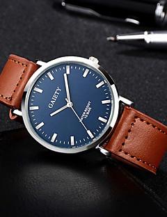 Herrn Armbanduhren für den Alltag Modeuhr Armbanduhr Chinesisch Quartz Chronograph Wasserdicht Leder Band Freizeit Schwarz Orange Braun