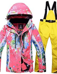 Dames Ski-jack & broek Warm waterdicht Winddicht Draagbaar Ademend Skiën Snowboarden Ski Katoen Milieuvriendelijk Polyester