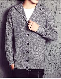 baratos Suéteres & Cardigans Masculinos-Homens Longo Carregam - Sólido