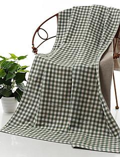 Frisse stijl Badhanddoek,Plaid/geruit Superieure kwaliteit Puur Katoen Handdoek