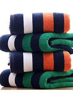 Frisse stijl Badhanddoek,Gestreept Superieure kwaliteit Poly / Katoen Handdoek