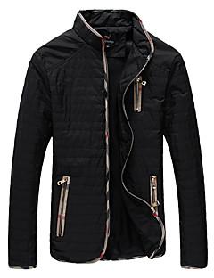 お買い得  メンズジャケット&コート-男性用 プラスサイズ ジャケット - ストリートファッション スタンド カラーブロック
