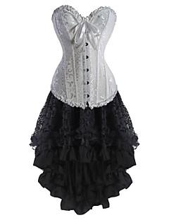 お買い得  コルセット-コルセットドレス 女性用-ミディアム フラワー ホワイト