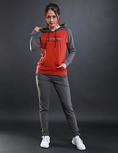 Naisten Juoksupaita Pitkähihainen Kouluttaja Fitness Verryttelypuku varten Juoksu Fitness Puuvilla Musta Musta/punainen Hyasintti+harmaa