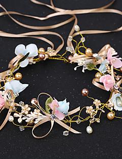 Women's Pearl Fabric Headband,Asian Formal Style Classic Style Imitation Pearl Rhinestone All Seasons