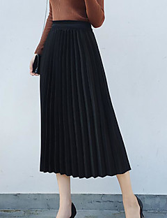 Women's Holiday Midi Skirts Skirt Solid Spring Winter