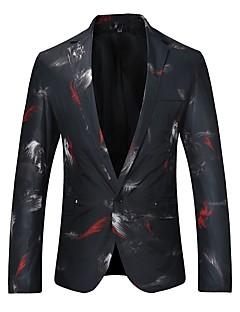 Erkek Pamuklu Uzun Kollu Gömlek Yaka Kış Sonbahar Desen Vintage Günlük/Sade Normal-Erkek Blazer