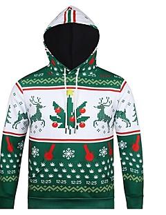 billige julen Kostymer-Snømann julenissen Hattetrøje Herre Dame Jul Festival / høytid polyester Drakter Grønn Stripet Jul