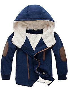 tanie Odzież dla chłopców-Dla chłopców Codzienny Wielokolorowa Odzież puchowa / pikowana, Bawełna Elastan Długi rękaw Na co dzień Orange Navy Blue