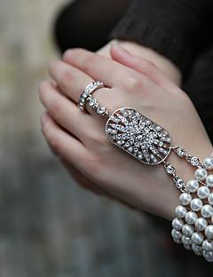 billiga Lolitamode-Smycken Söt Lolita Kedje & Länk Armband Prinsessa Bröllop Dam Flickor Vit lolita tillbehör Mosaik Armband/Fotledsband ABS