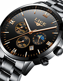 cheap Luxury Watches-Men's Automatic self-winding Mechanical Watch Skeleton Watch Japanese Calendar / date / day Chronograph Water Resistant / Water Proof