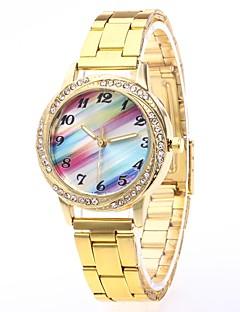 billige Luksus Ure-Herre Dame Quartz Armbåndsur Kinesisk N / A Rustfrit stål Bånd Luksus Afslappet Mode Sølv Guld
