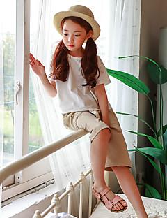 Dívčí Polyester Jednobarevné Léto Šortky Roztomilý Aktivní Béžová