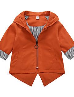 お買い得  女児ジャケット&コート-女の子 ソリッド コットン スーツ&ブレザー 長袖 キュート カトゥーン グリーン オレンジ ピンク