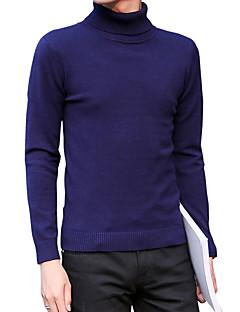 tanie Męskie swetry i swetry rozpinane-Męskie Praca Aktywny Golf Pulower - Nadruk, Jendolity kolor