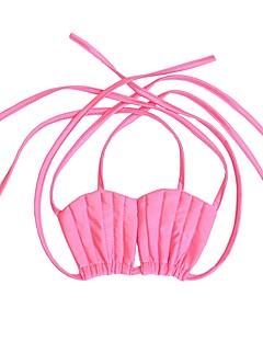 billige Halloweenkostymer-The Little Mermaid Bikini Barne Jul Maskerade Festival / høytid Halloween-kostymer Lilla Rosa Ensfarget søt stil Bikini