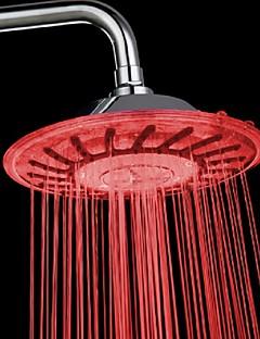 Contemporary Rain Shower Chrome Feature-LED , Shower Head