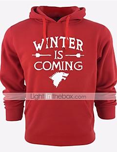 billige -Vinteren kommer Jerseysjakke Mann Festival / høytid Halloween-kostymer Svart Grå Blå Rød Turkis Bokstaver
