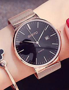 billige Modeure-Dame Quartz Armbåndsur Japansk Kalender / Sej Rustfrit stål Bånd Minimalistisk / Mode Sort / Sølv