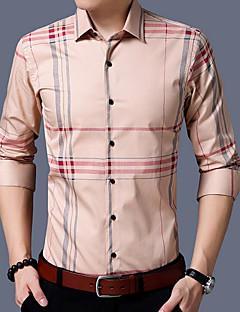 billige Herremote og klær-Skjorte Trykt mønster Gatemote Herre