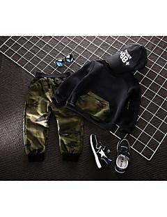 tanie Odzież dla chłopców-Komplet odzieży Bawełna Poliester Dla chłopców Jendolity kolor Wielokolorowa Wiosna Jesień Długi rękaw Prosty Army Green