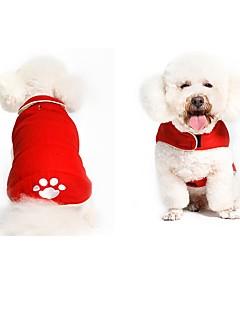 billiga Hundkläder-Hund Kappor Hundkläder Djur Svart Röd Bomullstyg Kostym För husdjur Djur söt stil