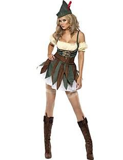 Schattig Het oude Griekenland Vrouwelijk Badpak Jurken Cosplay Groen Bloemblaadjes Mouwloos Asymmetrisch