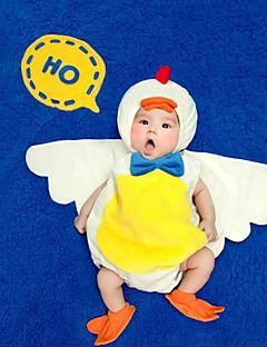 billige Sett med babyklær-Baby Unisex Tøjsæt Jul Fødselsdag Ensfarvet, Nylon Forår Sommer Uden ærmer Sødt Aktiv Hvid