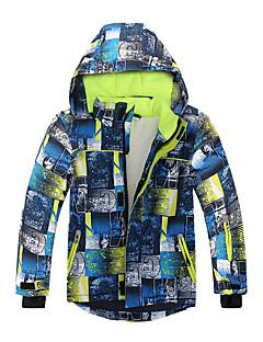 お買い得  スキーウェア-Phibee 子供用 スキージャケット ウォーム 防水 防風 スキー ウィンタースポーツ コットン 100%ポリエステル