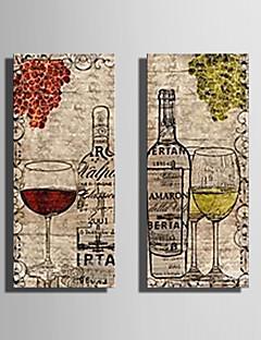Lærredstryk kunst Stilleben Vin og vinglas Sæt med 2