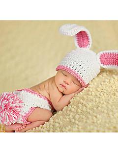 billige Sett med babyklær-Baby Pige Aktiv Ensfarvet Uden ærmer Tøjsæt