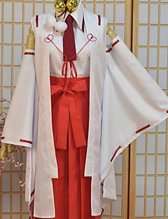 """billige Anime cosplay-Inspirert av Armed Girl's Machiavellism Tsukuyo Inaba Anime  """"Cosplay-kostymer"""" Cosplay Klær Trykt mønster Toppe Bukser Slips Hodeplagg"""