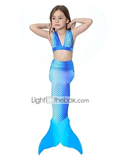 The Little Mermaid Plavky Bikini Dítě Vánoce Plesová maškaráda Festival / Svátek Halloweenské kostýmy Modrá Jednobarevné